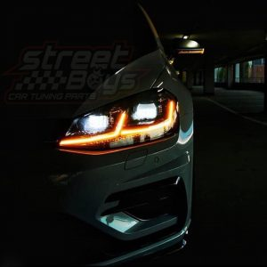 VW GOLF 7 HEADLIGHTS DRL TAILLIGHTS XENON ANGEL EYES CAR TUNING EUROPE