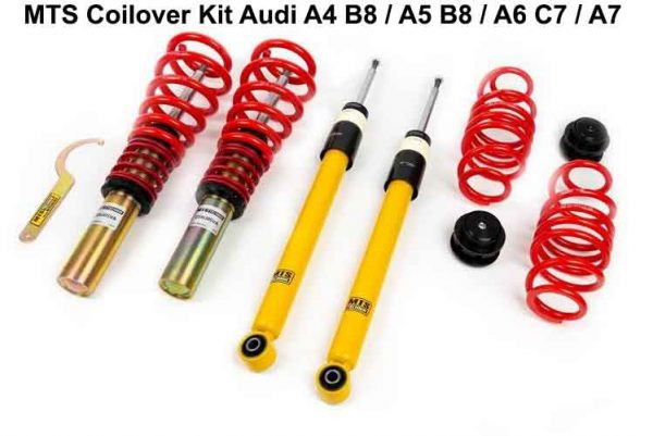 AUDI A4 B8 A5 A6 COILOVER KIT - ΡΥΘΜΙΖΟΜΕΝΗ ΑΝΑΡΤΗΣΗ ΚΑΘ'ΥΨΟΣ