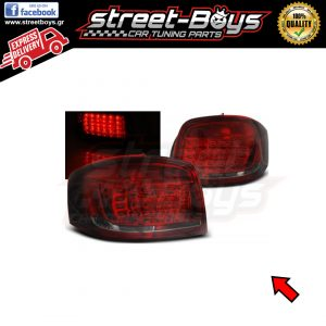 AUDI A3 8P (2008-2012) RED SMOKE LED ΠΙΣΩ ΦΑΝΑΡΙΑ