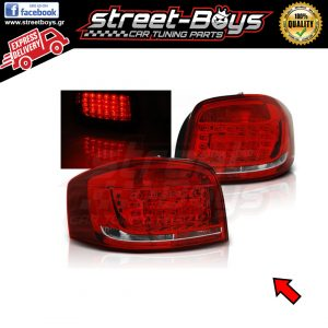 AUDI A3 8P (2008-2012) RED WHITE LED ΠΙΣΩ ΦΑΝΑΡΙΑ