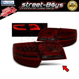 AUDI A3 8P (2004-2008) SPORTBACK RED SMOKE LED ΠΙΣΩ ΦΑΝΑΡΙΑ